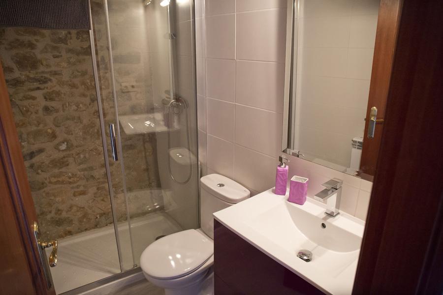 Aseo-con-ducha-estancia-1-Casa-Grabiel-turismo-de-Areny-de-Noguera-Aragón